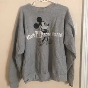 L Gray Walt Disney World Sweatshirt